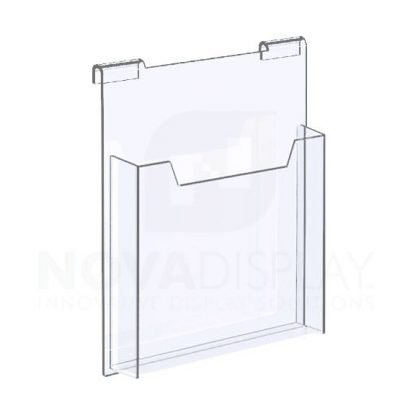 18HALD-8511P Hook-on Acrylic Leaflet Dispenser – Single Pocket / Portrait