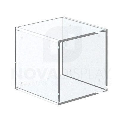 Non-Lit Acrylic Open Display Case – Frosted