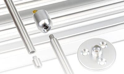 Installation Accessories for 10mm Rod Display Systems