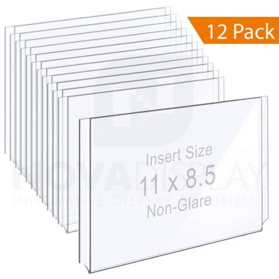 Non-Glare Acrylic Easy Access Info/Poster Holder – Letter Format. Landscape Orientation