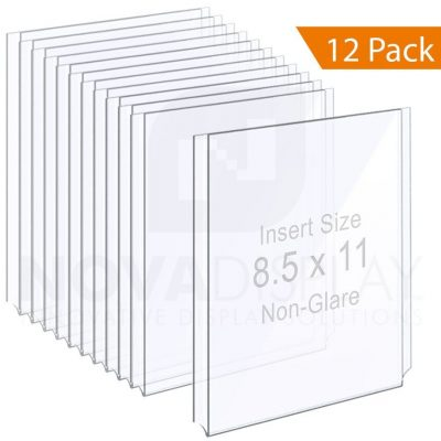 Non-Glare Acrylic Easy Access Info/Poster Holder – Letter Format. Portrait Orientation