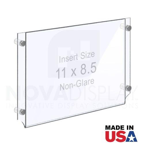 Wall Mounted Acrylic Poster Holder / Easy Access Acrylic Pocket Frame – Non-Glare