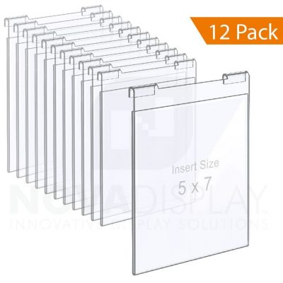 Clear Acrylic Hook-on Info/Poster Holder – Letter Format. Portrait Orientation