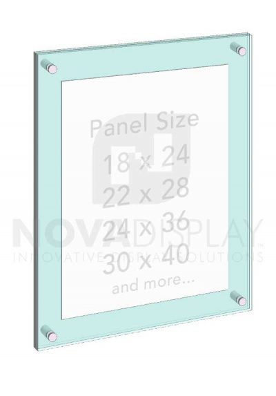 KASP-010 Sandwich Acrylic Poster Display Kit / Wall Mounted with Standoffs