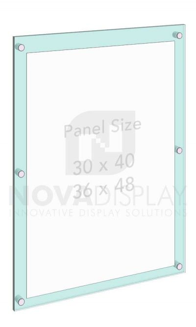 KASP-020 Sandwich Acrylic Poster Display Kit / Wall Mounted with Standoffs