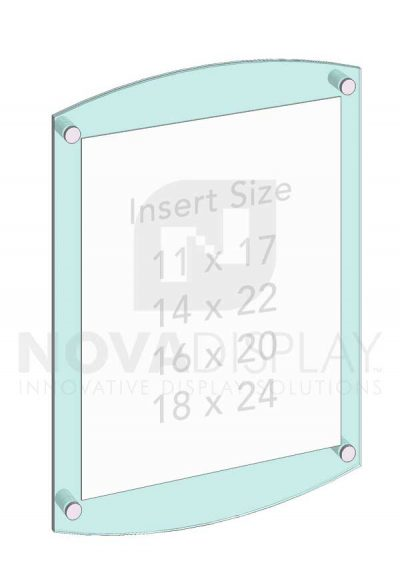KASP-030 Sandwich Acrylic Poster Display Kit / Wall Mounted with Standoffs
