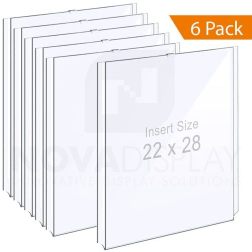 1/8″ Clear Acrylic Easy Access Info/Poster Holder – Portrait Orientation