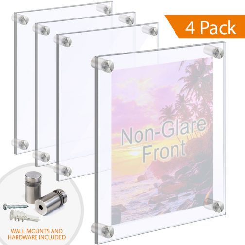 Wall Mounted/Floating Acrylic Poster Frames with Standoffs