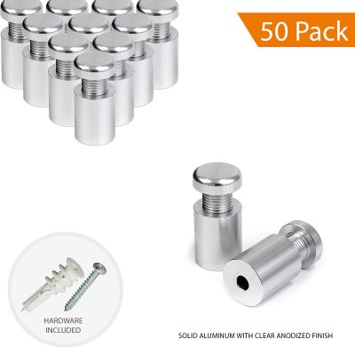 5/8″ Dia. x 3/4″ Economy Aluminum Sign Standoff (2-Part Standoff with M10 Stud-Cap)