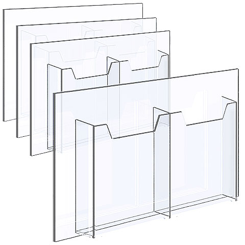 Nova Display Systems / Acrylic Literature Holders for Cables/Rods in Bundle