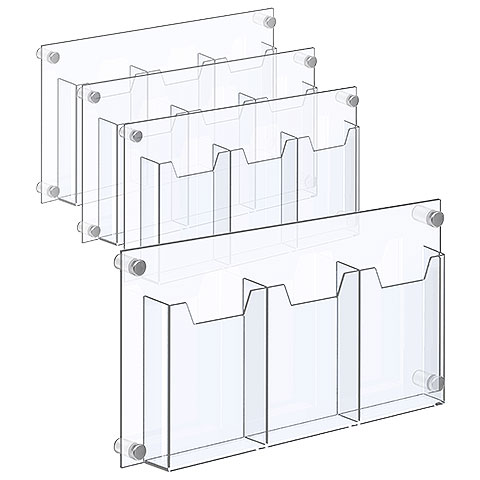Nova Display Systems / Acrylic Literature Holders with Standoffs in Bundle