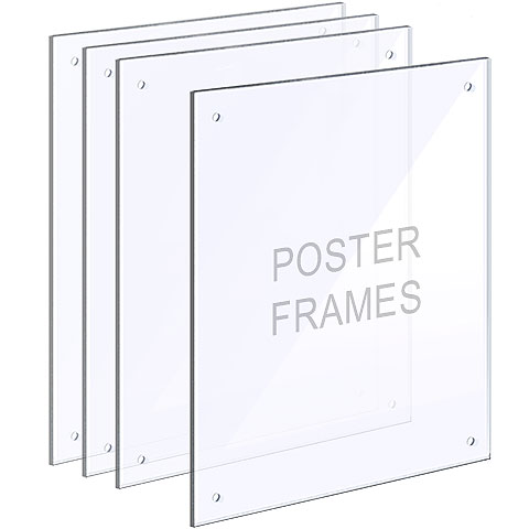 Nova Display Systems / Acrylic Poster Frames with Standoffs in Bundle