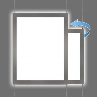 Switchable LED Light Pocket with Cable Grippers – Portrait or Landscape Format