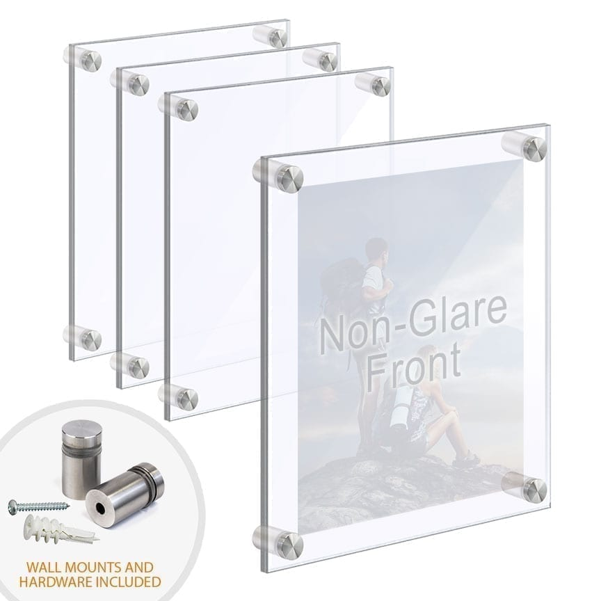 Wall Mounted/Acrylic Picture Frames with Standoffs