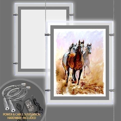 GLOW-EDGE LED BACKLIT WINDOW DISPLAY for Portrait Format Poster – PRODUCT BUNDLES