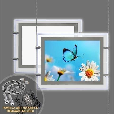 GLOW-EDGE LED BACKLIT WINDOW DISPLAY for Landscape Format Poster – PRODUCT BUNDLES