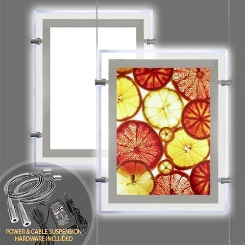 GLOW-EDGE LED BACKLIT WINDOW DISPLAY for Portrait Format Posters – PRODUCT BUNDLES