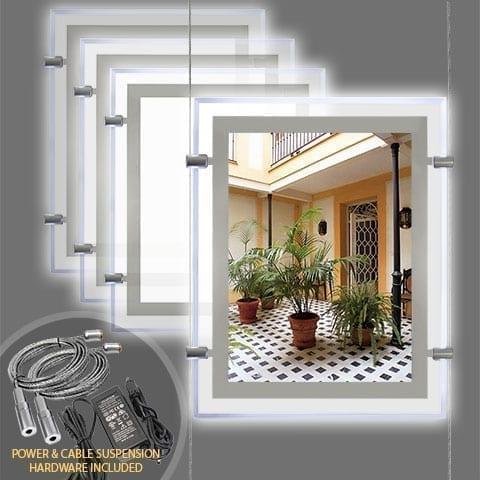 GLOW-EDGE LED BACKLIT WINDOW DISPLAY for Portrait Letter/Tabloid Format Inserts – PRODUCT BUNDLES