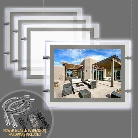 GLOW-EDGE LED BACKLIT WINDOW DISPLAY for Landscape Letter/Tabloid Format Inserts – PRODUCT BUNDLES