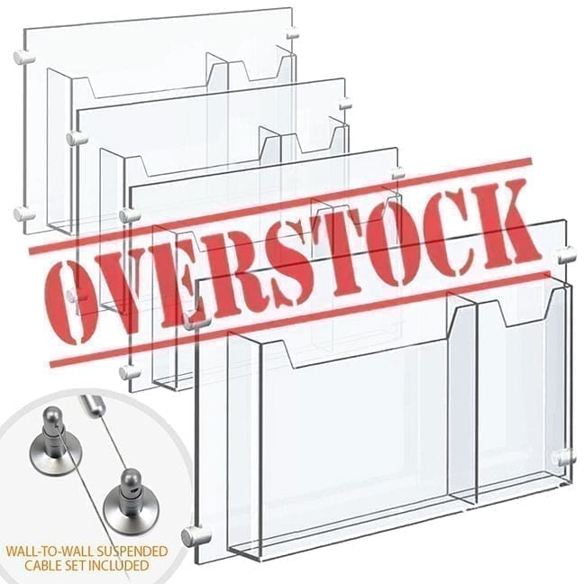 Acrylic Accessories for Cable/Rod Display Systems