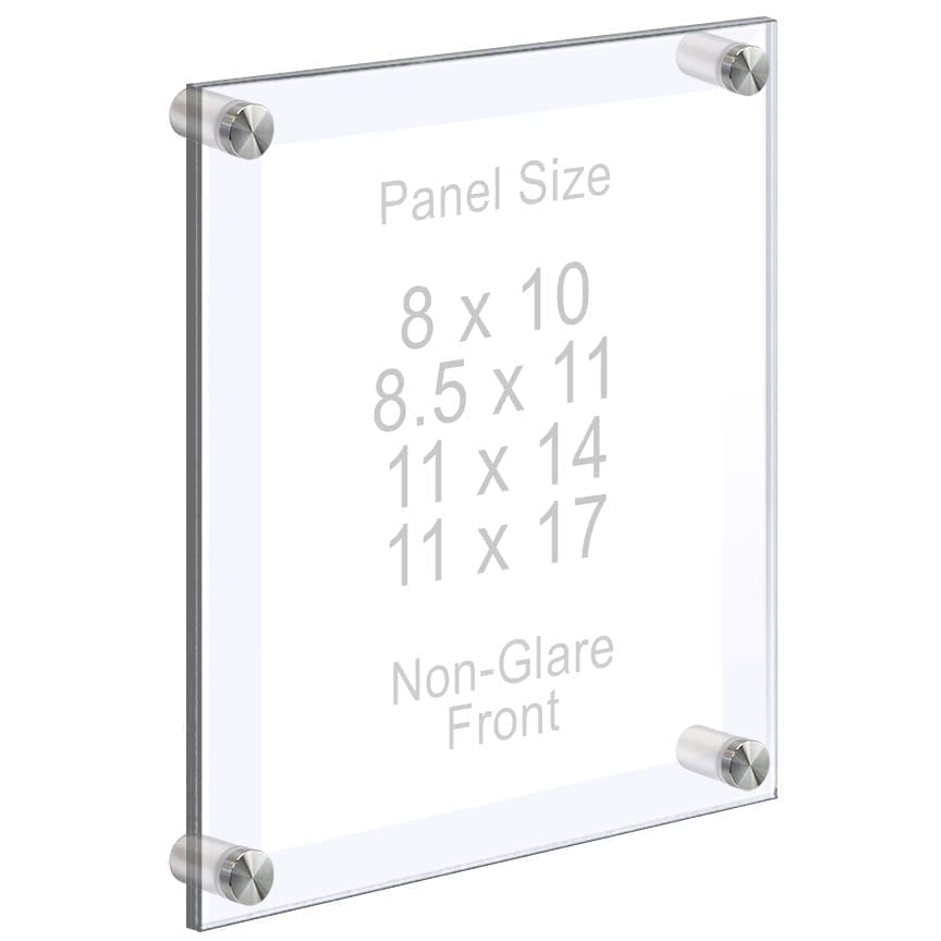 Acrylic Wall Frames with Standoffs