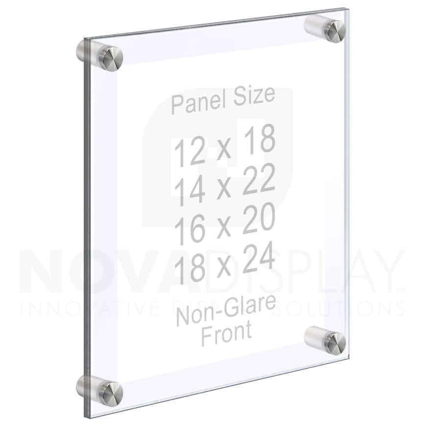 Acrylic Frames Wall Mounted with Standoffs