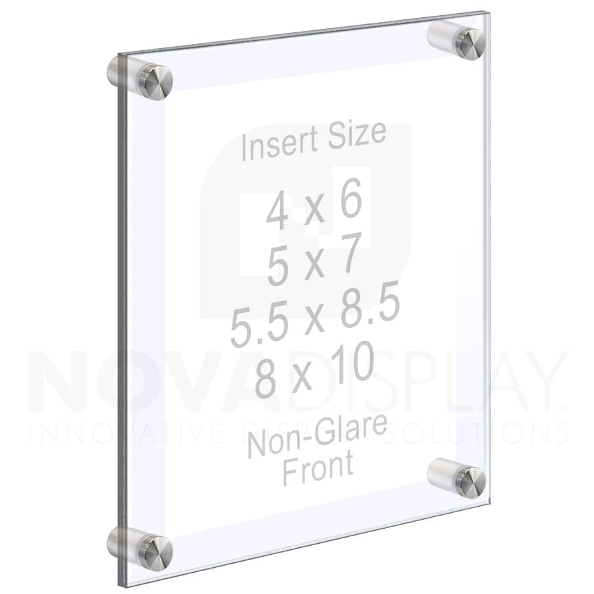 Acrylic Photo Frames Wall Mounted with Standoffs