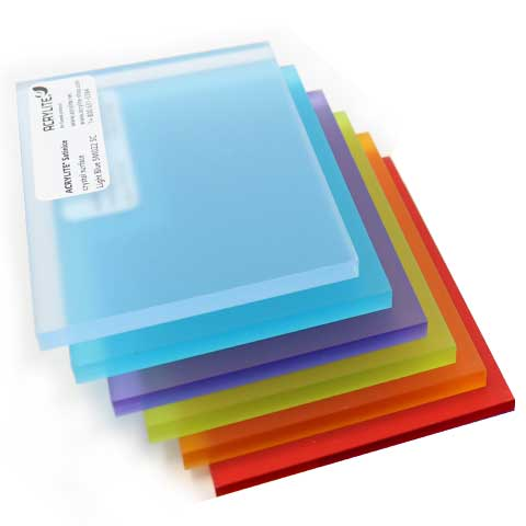 Frosted & Satinice Acrylic Sample Sheets