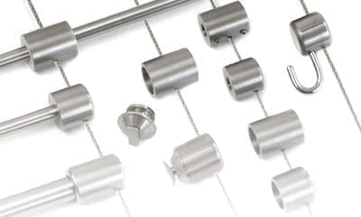 Specialty Supports for 1.5mm Cable Display / Stainless Steel
