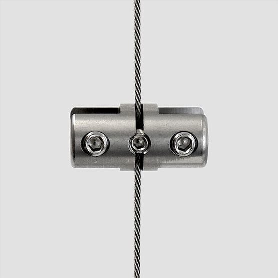 Panel Support Double-Sided for Cable System   #303 Stainless Steel