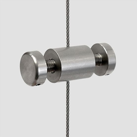 Cable Support with M6 Stud-Cap for Suspended Panels with Holes | #303 Stainless Steel