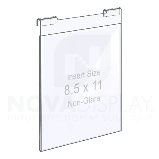 Non-Glare Hook-on Acrylic Pocket / Poster Holder