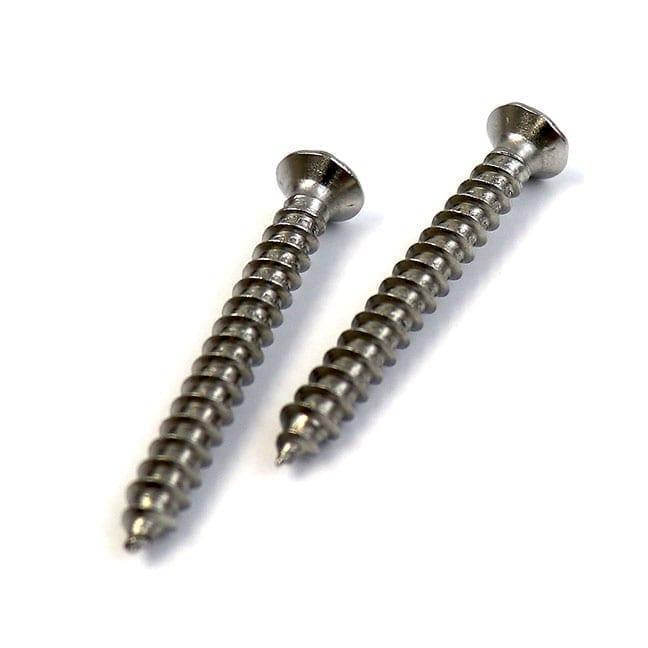 #10 x 2 in, Flat Head, Stainless Steel Screw