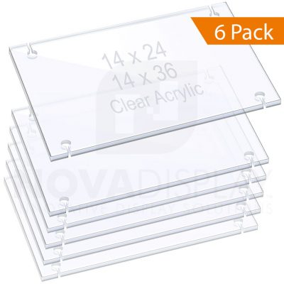 3/8″ (10mm) Acrylic Shelves for Rods – Slotted/Removable / QTY 6