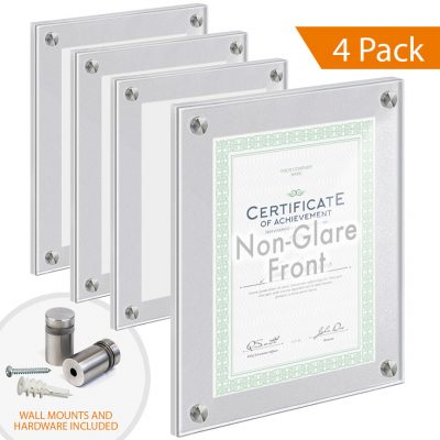 Satin-Frost Acrylic Wall Frames with Standoffs